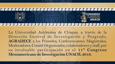 Te invitamos a consultar en la Revista Digital el Resumen de Ponencias del 11° Congreso Mesoamericano de investigación UNACH 2019
