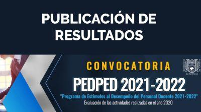 Publicación de resultados: Programa de Estímulos al Desempeño del Personal Docente 2021-2022