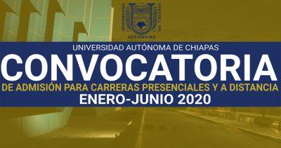 Convocatoria de admisión para carreras presenciales y a distancia Enero - Junio 2020