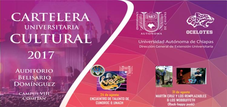 Cartelera Universitaria Cultural 2017