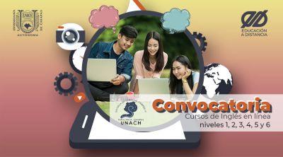 Convocatoria Especial Curso de Inglés en línea nivel 1, 2, 3, 4, 5 y 6