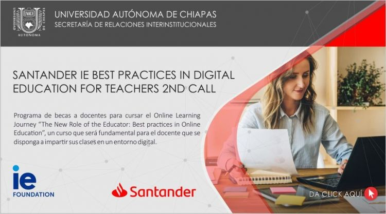 Santander IE Best Practices in Digital Education for Teachers 2nd Call