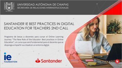 Santander IE Best Practices in Digital Education for Teachers 2nd Call
