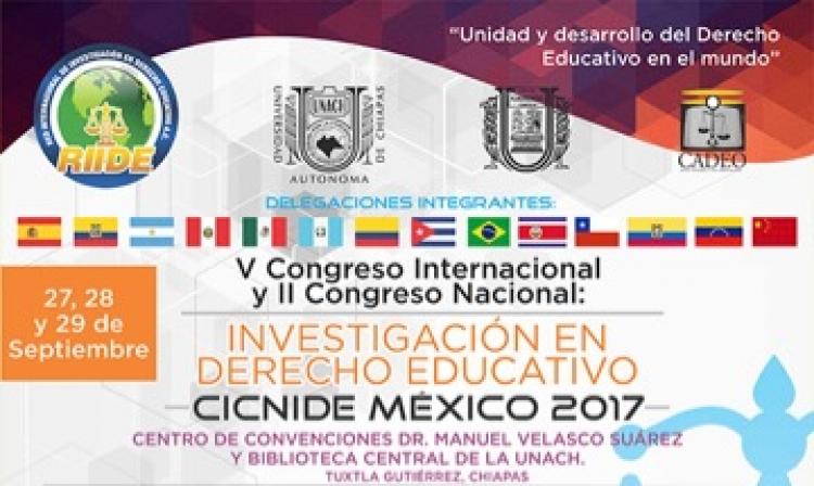 V Congreso Internacional y II Congreso Nacional: Investigación en Derecho Educativo