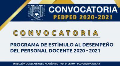 Convocatoria PEDPED 2020 - 2021