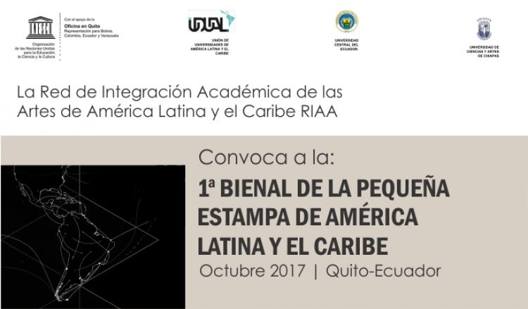 Convoca a la: 1a. Bienal de la pequeña estampa de américa latina y el caribe.