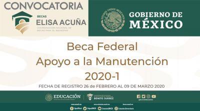 Beca federal - Apoyo a la manutención 2020-1