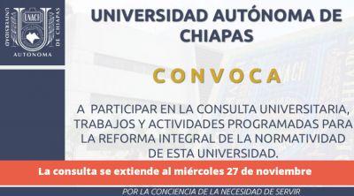 Consulta universitaria para la reforma integral de la normatividad de esta Universidad