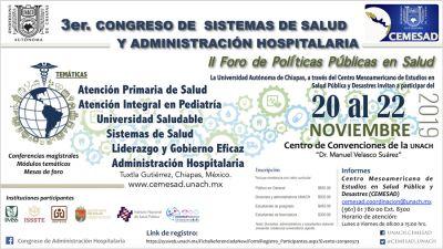 3er. Congreso de sistemas de salud y administración hospitalaria