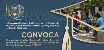 Programa emergente para la obtención del grado académico de posgrado