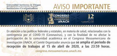 12° Congreso Mesoamericano de Investigación UNACH