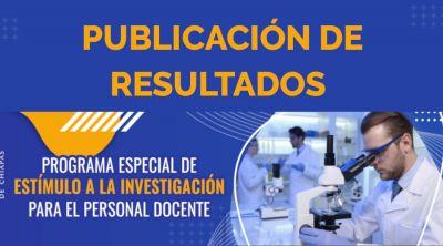 Publicación de resultados: Programa Especial de Estímulo a la Investigación 2021-2022
