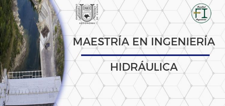Maestría en ingeniería hidráulica